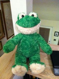 Build A Bear Workshop BABW Plush Stuffed Frog Retired RARE Large EUC