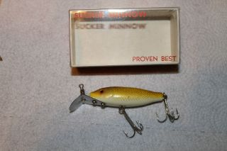 Bear Creek Sucker Minnow Gold Spinning Size with Box