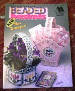 Beaded Baskets in Plastic Canvas Pattern Book Annies Attic