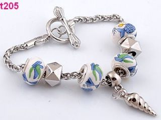 One New Style European Beaded Charm Bracelet with Special Clasp T205
