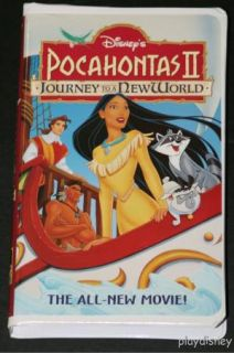 Disney Pocahontas II Journey to A New World VHS