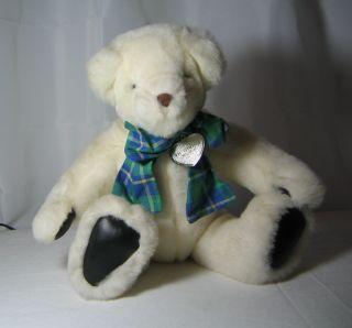 Vintage Gund White Plush Teddy Bear Victoria Secret 1992
