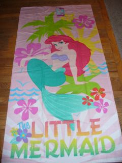 New Disney Little Mermaid Ariel Beach Bath Towel Plush