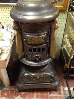Oak Cast Iron Parlor Wood Stove Made by P D Beckwith Dowagic MI