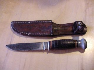 HUNTING SURVIVAL WWII COMBAT FIGHTING KNIFE RH PAL 51 ORIGINAL LEATHER