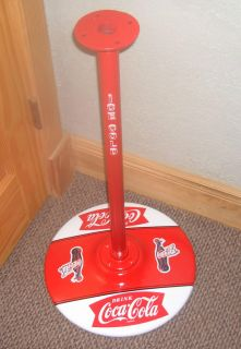 Vintage Gumball Machine Coca Cola themed stand, weighted, coke decal