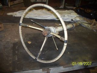 1956 Cadillac Steering Column with Wheel Levers Neutral Safety Switch
