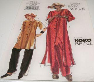 Vogue 7053 Koko Beall OOP Misses Tunic & Pants Sewing Pattern Sz 14 16