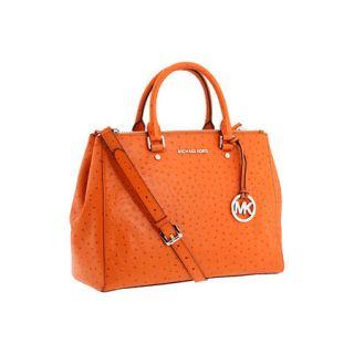 New Michael Kors Bedford Large Dressy Tote Handbag Tangerine 30H1SBFT