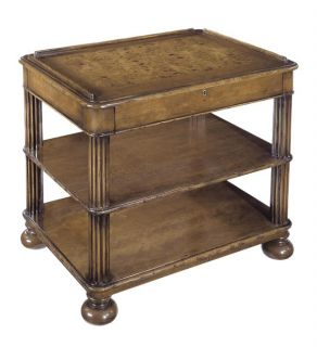 Regency Bedside Side Table Chest Nightstand Solid Wood Waxed Cherry