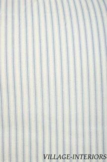 BLUE WHITE TICKING STRIPE KING 18 DROP BEDSKIRT DUST RUFFLE
