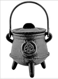 Triquetra Cast Iron Cauldron Wiccan Pagan Altar Witchcraft