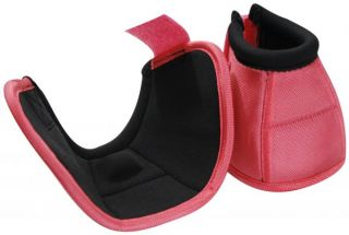 Pink Size Medium Heavy Duty No Turn Horse Bell Boots New Tack