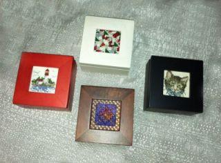 Sudberry House Miniature Wood Box Needlepoint Cross Stitch 4 Color