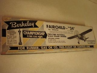 Berkeley Fairchild Control Line Model Airplane Kit