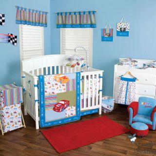 Car Baby Boy Girl Neutral Kid Toddler Crib Nursery Bedding Set