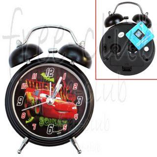 Car Lightning McQueen Squealing Hammer Twin Bell Alarm Clock