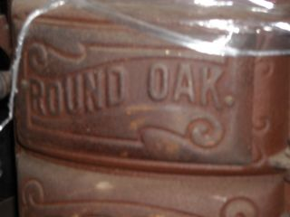 Beckwith Round Oak Pot Belly Cylinder Stove PatD May 7 1912