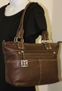 New Giani Bernini Handbag Super Soft Brown Leather Tote