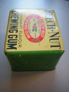 Vintage Beech Nut Peppermint Flavour Chewing Gum Tin
