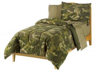 Army Geo Camouflage Full Bed in Bag Comforter Set Boys