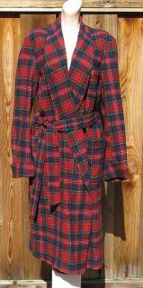 Pendleton MacPherson Red Tartan Plaid Wool Robe M