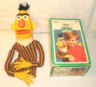 Vtg 1973 Sesame Street Bert Hand Muppet Puppet w RARE BOX Henson CHILD