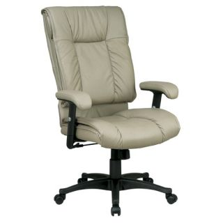 Office Star Deluxe High Back Leather Executive Chair