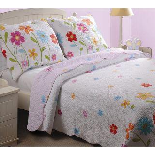 Blossom Girls Bedding Comforter Quilt Set Full Queen Twin