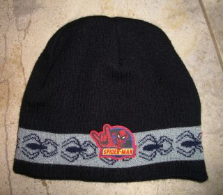 815 Spider Man Black Knit Cap Hat Beenie Boys 1 Size