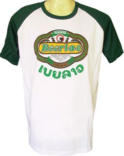 Beer Lao Thai Lao Brewery Drink T Shirt Top Extra Large
