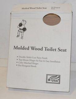 Beneke EM20 TM WHITE Molded Wood Toilet Seat