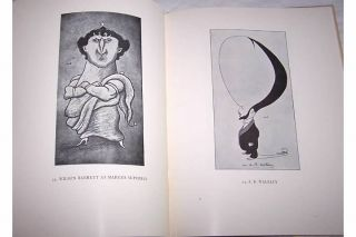 Maxs Nineties Max Beerbohm Drawings Art Sketches Humor 1890s HC DJ
