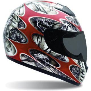 Bell Helmets Arrow Motorcycle Helmet Shocker Red White Large L New
