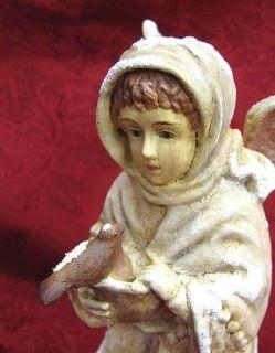 Bethany Lowe Christmas Angel w Bird Figure Decoration