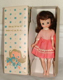 1950s Betsy McCall Doll Brunette in Original Box