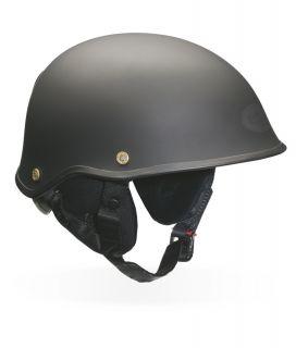 Bell Drifter Dlx Matte Black Half Cruiser Motorcycle Helmet Size s XL