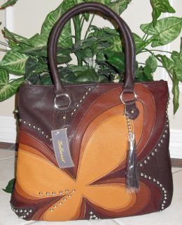 New Quality Bellerose Big Floral Tote Style Bag   Multi Brown