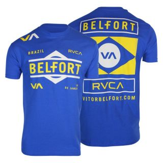 RVCA Vitor Belfort Team 152 MMA Tee Shirt Blue Sizes s M L XL 2XL