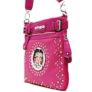 Betty Boop Signature Star Studded Sling Messenger Crossbody Handbag