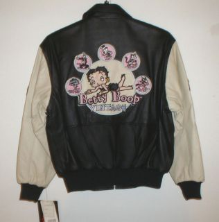 Classic Betty Boop Vintage Leather Jacket by Excelled