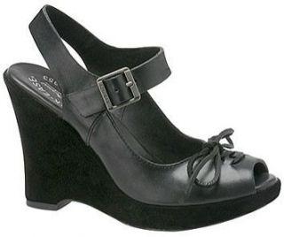 Kork Ease Bellevue Black Leather Sandals – Sz 8M