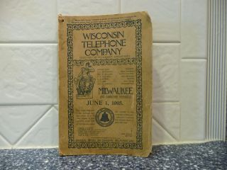 Very Early 1905 Milwaukee Wisconsin Bell Telephone Book Directory