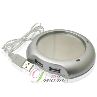 New USB Hub Coffee Tea Beverage Cup Mug Warmer Heater