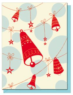 Ring A Ding Bells Letterpress Christmas Cards Box of 6