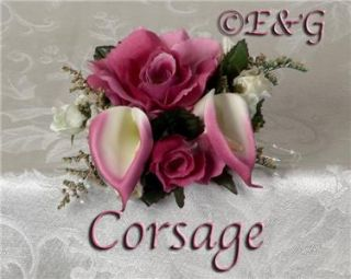 Love Anna Belle Deep Rose Wedding Bouquet Bouquets Bridal Corsage