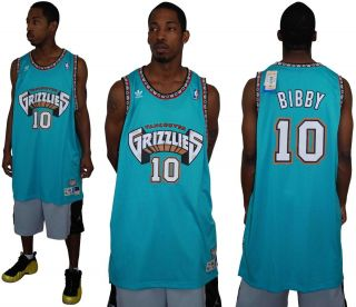MIKE BIBBY VANCOUVER GRIZZLIES HARDWOOD CLASSICS THROWBACK SWINGMAN