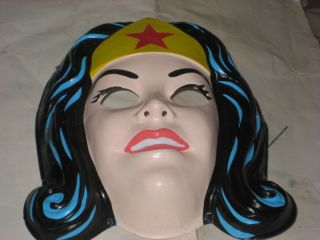 BEN COOPER Wonder Woman Plastic Halloween Mask and Costume Set Size S