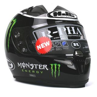 Motorcycle Helmet HJC R PHA10 Ben Spies Monster MC5 Gloss Black Large