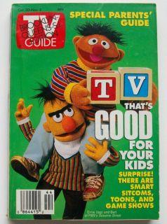 1993 October November TV Guide Magazine Bert Ernie
